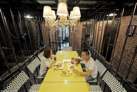 How To Hang Chandelier china opens first ever prison themed restaurant daily
