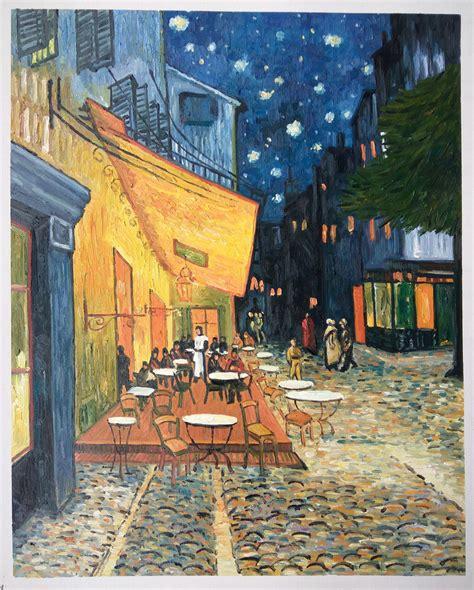 amsterdam museum at night cafe terras at night van gogh reproduction van gogh studio