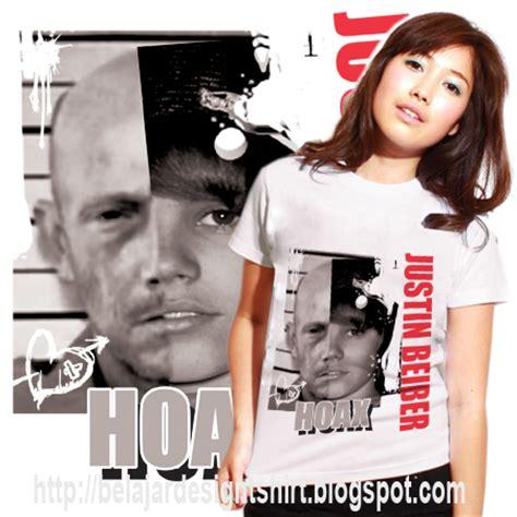 Kaos Justin Bieber 10 koleksi psd desain kaos hoax justin beiber t shirt