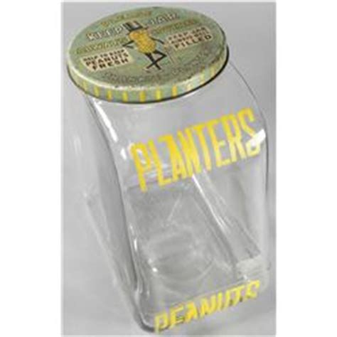 Planters Peanut Collectibles by Planters Peanut Jar With Original Tin Litho Lid