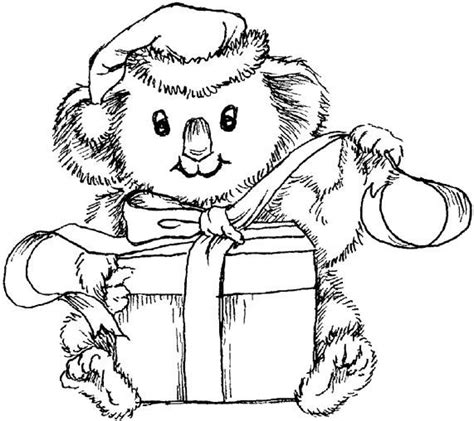 christmas koala coloring page 17 best images about sts on pinterest coloring books