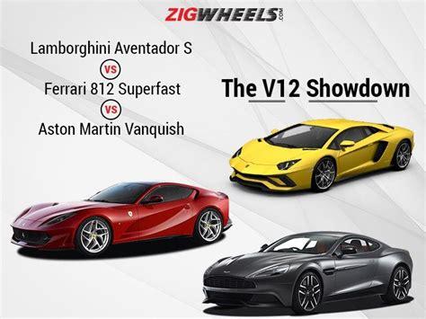 Lamborghini Vs Aston Martin Lamborghini Aventador S Vs 812 Superfast Vs Aston