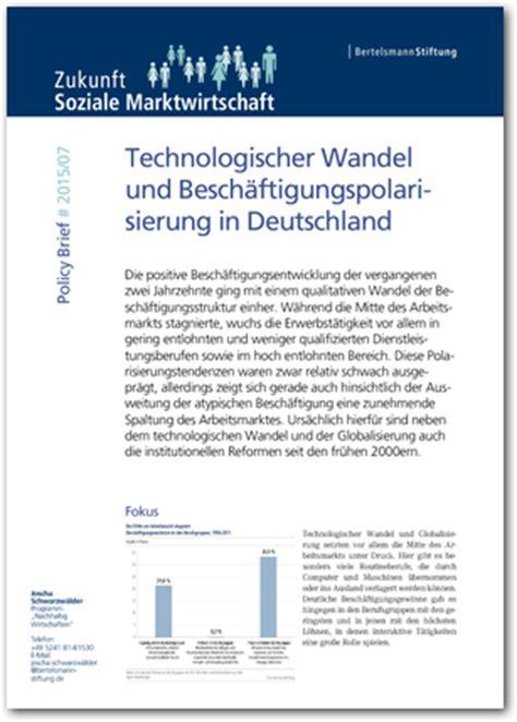 Brief Schweiz Zollerklärung Policy Brief 2015 07 Technologischer Wandel Und Besch 228 Ftigungspolarisierung In Deutschland