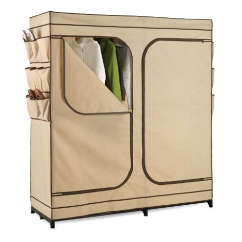 bedroom clothes rack portable closet garment wardrobe storage heavy duty fabric