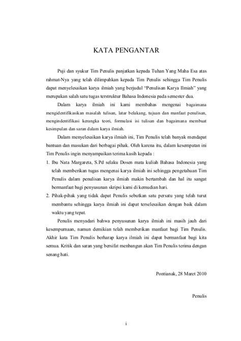 kata pengantar membuat artikel contoh makalah bahasa indonesia