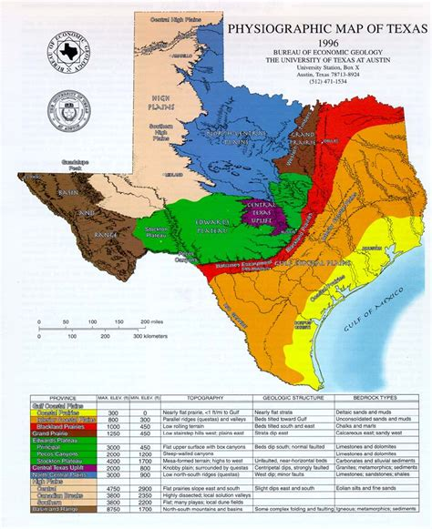 texas coastal plains map physiography of texas