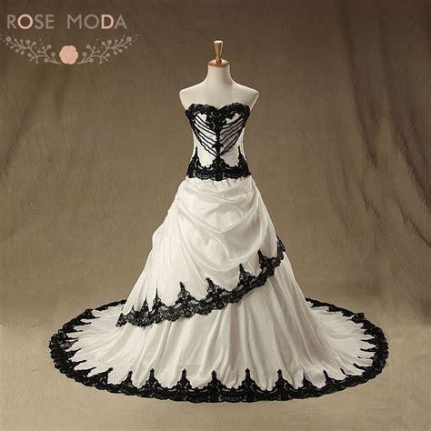 rose moda vintage black wedding dress 2019 pearl lace