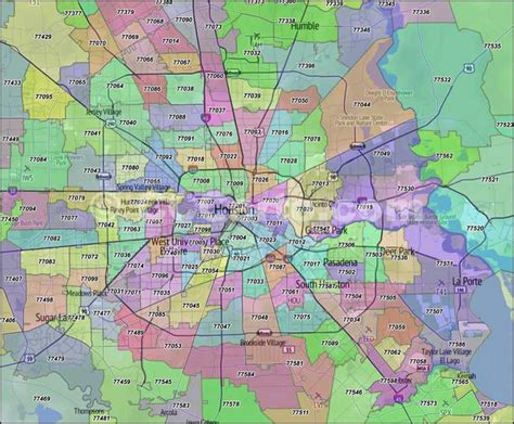 printable zip code map houston tx houston map by zip codes bnhspine com