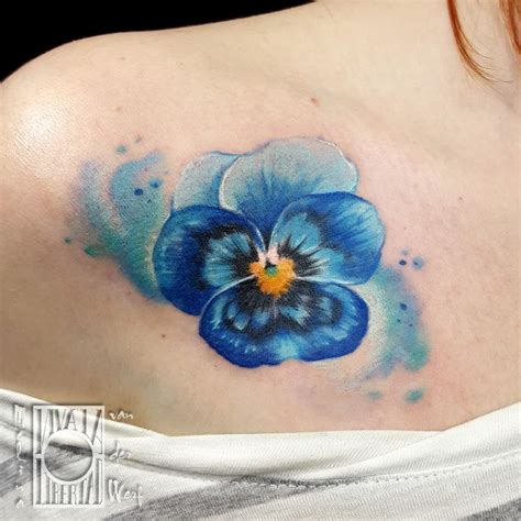 pansy flower tattoo best 25 pansy ideas on violet