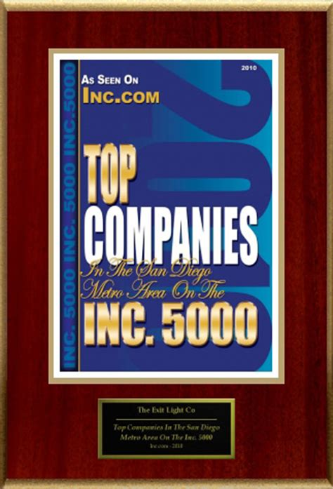 the exit light company inc com honors exit light co as a top company in san diego
