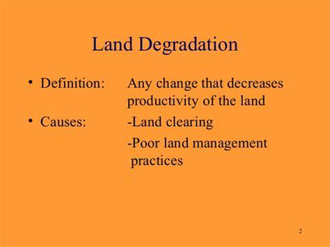 Landscape Degradation Definition Land Degradation