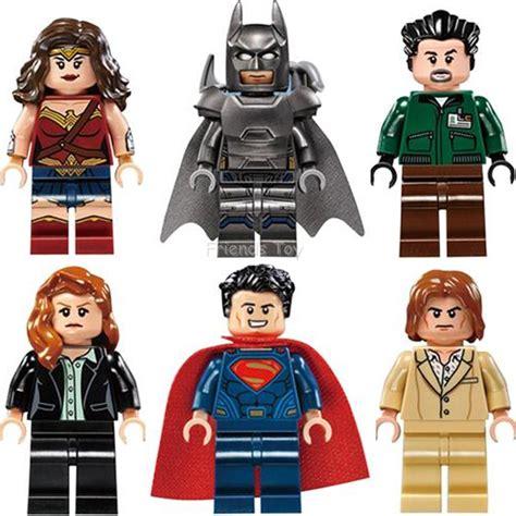 Figure Dc Justice League Set Supermanbatmandll 7 Pcs 6pcs batman v superman lois luthor lexcorp henchman building blocks