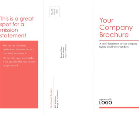 download tri fold brochure template for free formtemplate