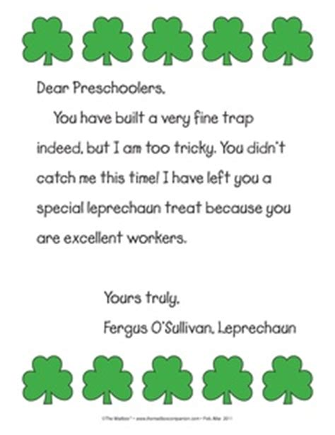 free printable letters from leprechaun results for all products cross curricular resource