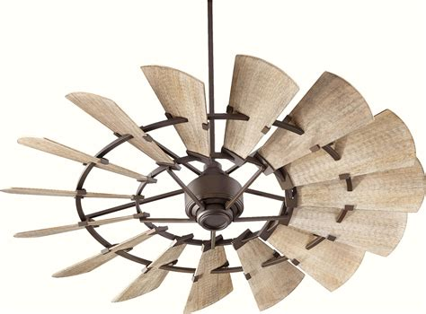 rustic windmill ceiling quorum windmill 60 ceiling fan 96015 86 in oiled bronze
