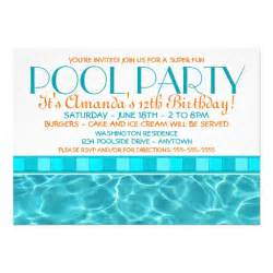 pool invitations 5 quot x 7 quot invitation card zazzle