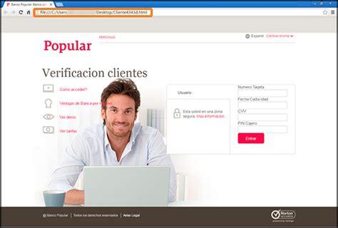 pagina banco popular detectados correos de phishing que suplantan al banco