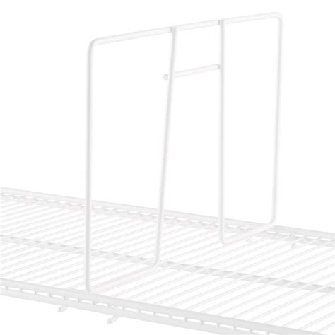 Container Store Shelf Dividers by White Elfa Ventilated Wire Shelf Dividers The Container