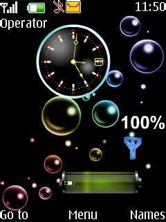 java themes with tone download bubble clock tone nokia theme mobile toones