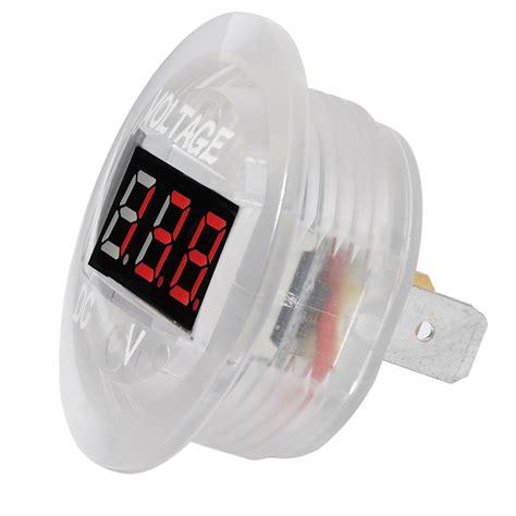 Voltmeter Waterproof Dc 12v 24v car motorcycle led digital display dc voltmeter socket waterproof meter ebay