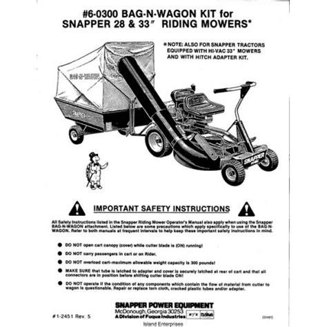 Snapper 6 0300 Bag N Wagon Kit 28 Quot Amp 33 Quot Riding Mowers