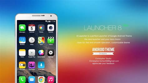 android loader 8 launcher programmes pour android t 233 l 233 chargement gratuit 8 launcher simple ios 8 sosie