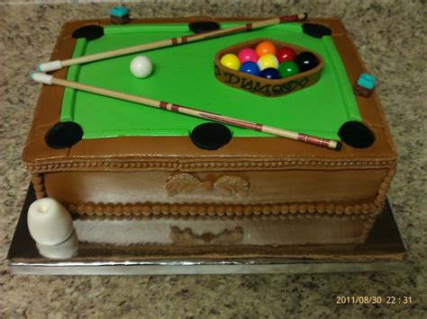 pool table grooms cake cakecentral