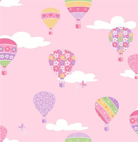 pink balloon wallpaper shop houzz brewster home fashions hot air balloons pink