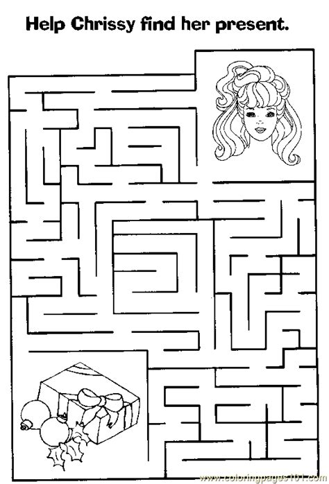 printable barbie maze maze 53 coloring page free mazes coloring pages