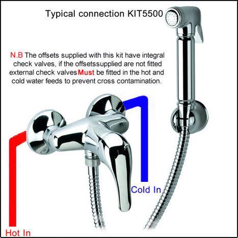 bidet kit kit5500 warm water bidet shower kit