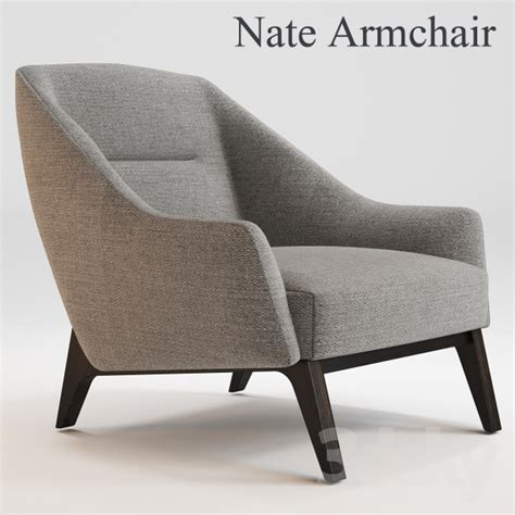 3d models: Arm chair   Nate Armchair OKHA  Adam Court