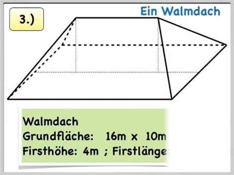Walmdach Volumen Berechnen by Pythagorasxxl Beispielaufgabe Walmdach