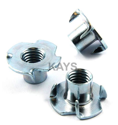 woodworking nut four pronged t nuts captive threaded inserts for wood m4