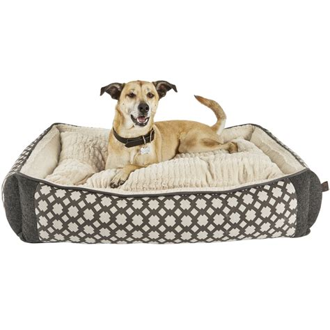 orthopedic dog bed harmony grey nester orthopedic dog bed petco