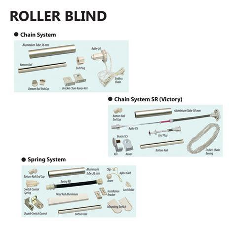 Roller Blind Chain Blackout Exclusive Tirai Gordyn Gorden roller blind