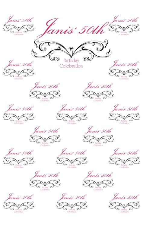 backdrop design for 50th birthday pin by rock the red carpet on quot best of quot backdrops pinterest