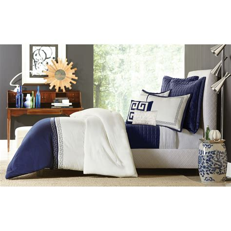 greek key comforter set grand resort greek key comforter set blue