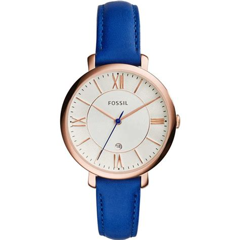 fossil blue leather jacqueline watches from