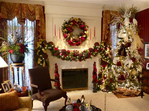 christmas home decoration in home decorating wisteria flowers and gifts