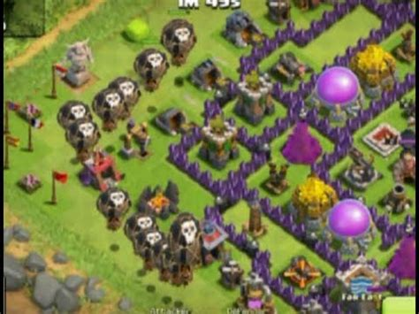 Kaos Coc Baloonion Minion clash of clans the best attack strategy with balloon and minion max level