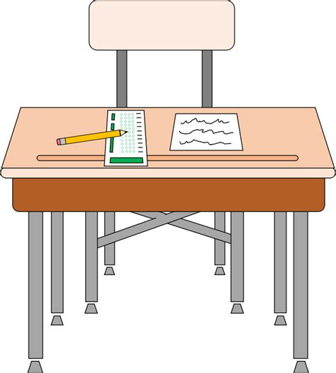 Free Student Desk Clip Art Student In Desk Clipart