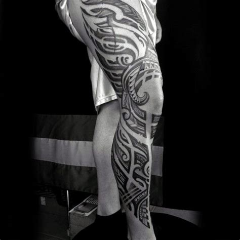 leg sleeve tattoo ideas 100 awesome tattoos for guys manly ink design ideas