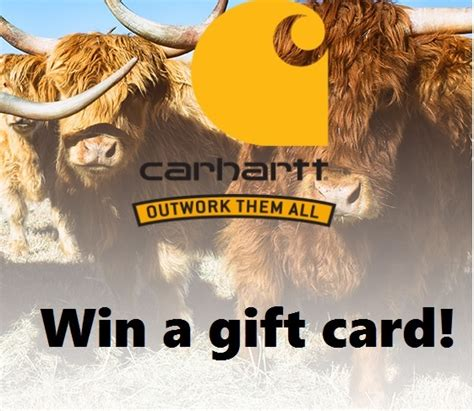 Carhartt Gift Cards - carhartt outwork them all win gift cards instant win game thrifty momma ramblings