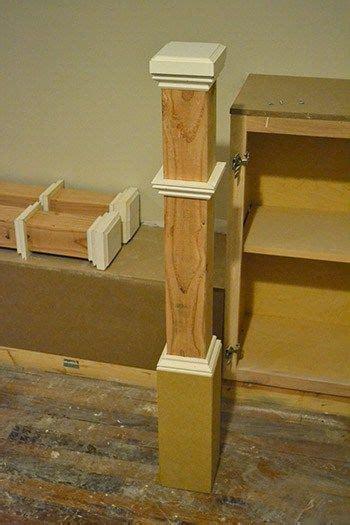 diy newell post stair posts diy stair railing outdoor