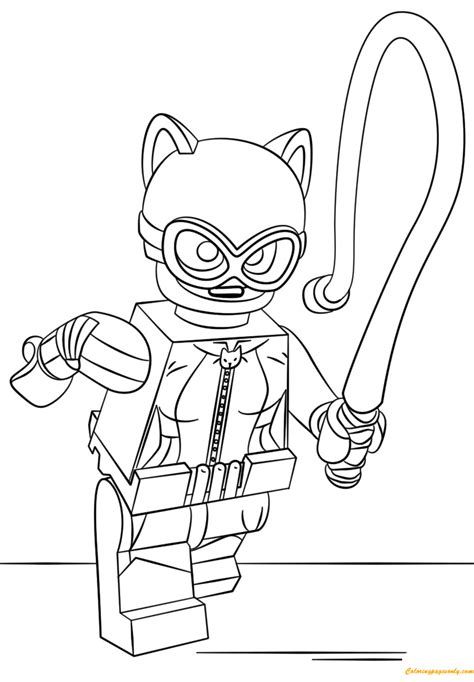printable coloring pages lego batgirl lego batman catwoman coloring page free coloring pages