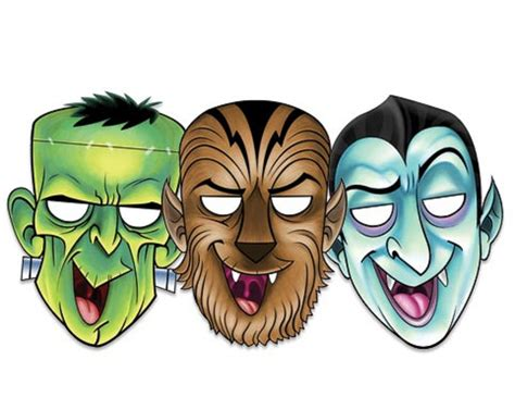 free printable halloween masks to colour halloween masks coloring pages