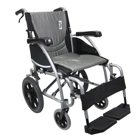 Transport Chair Walgreens by Karman 18in Seat Ergonomic Transport Wheelchair Silver Walgreens