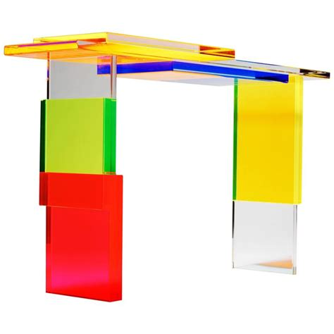 Colorful Table L by Colorful Destructured Console Table By Charly Bounan For