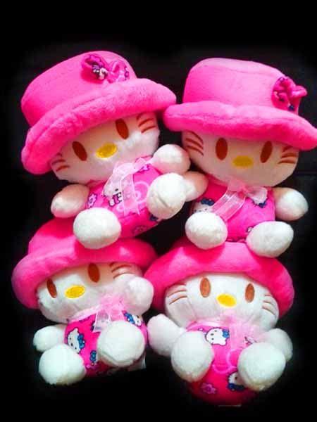 Dijamin Boneka Helokity Topi jual boneka hello cantik warna pink harga pasti murah