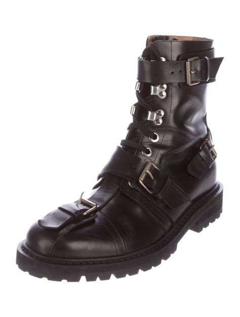 dries noten leather combat boots shoes dri37847 the realreal
